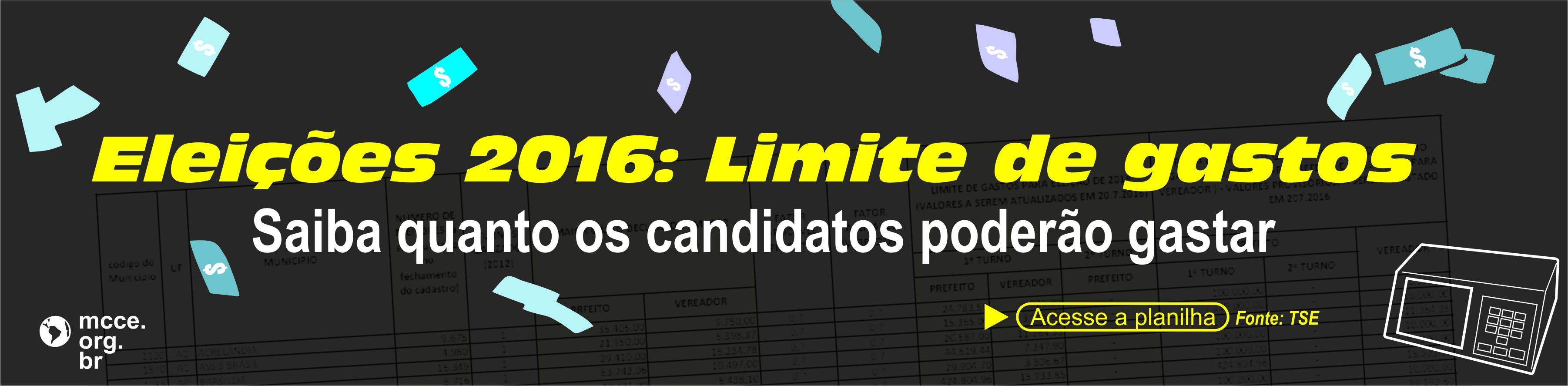 Eleições 2016: Limite de gastos